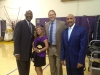 Kurt Rambis, James Worthy at Lakers media day