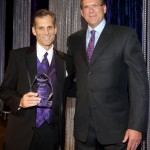 Greg Willard and Kurt Rambis at the Pancreatic Cancer Action Network Gala